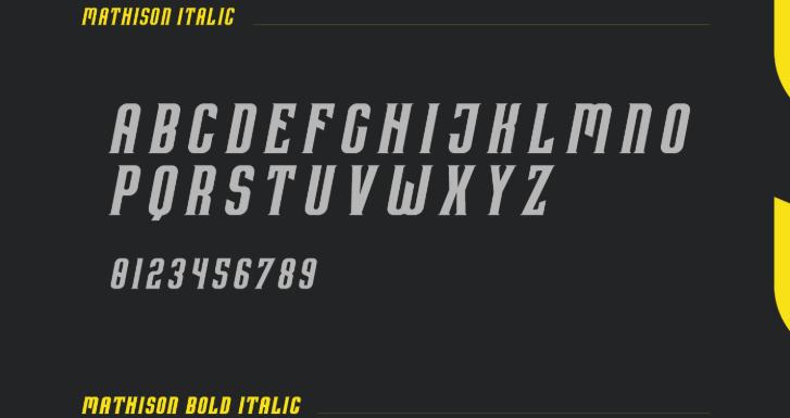 Mathison Typeface - Mathison Typeface Font Free Download