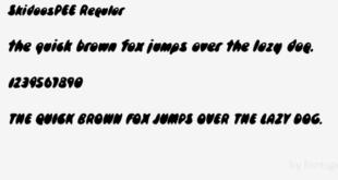 Skidoospee Regular Font 310x165 - Skidoospee Regular Font Free Download