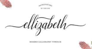 Ellizabeth 310x165 - Ellizabeth Script Font Free Download