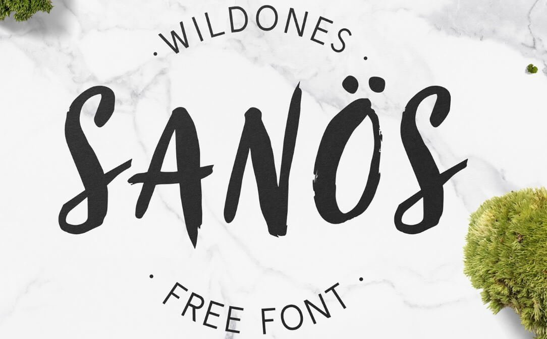 Sanos Font - Sanos Brush Font Free Download