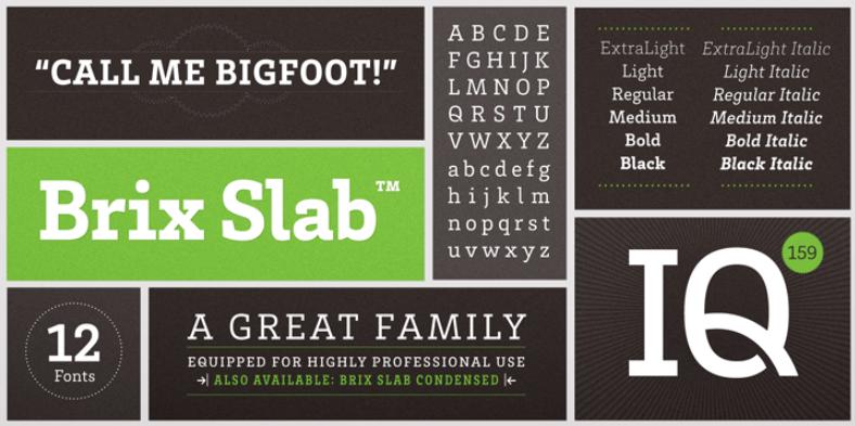 Brix Slab - Brix Slab Font Free Download