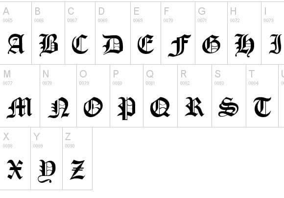 Old london Font - Old London Font Free Download