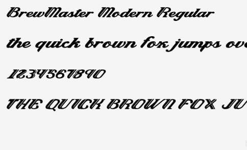 Brewmaster Regular Font - Brewmaster Font Family Free Download