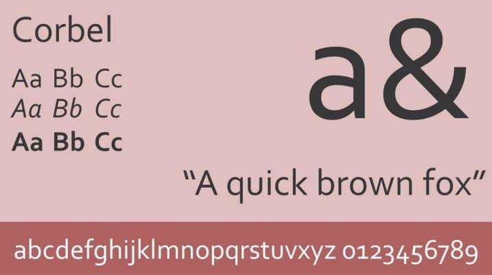 Corbel Font - Corbel Font Free Download