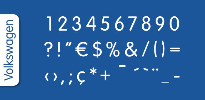 Volkswagen-font