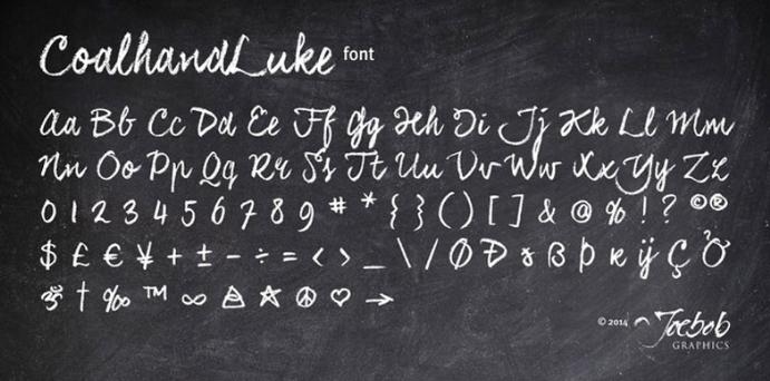 chalk-font