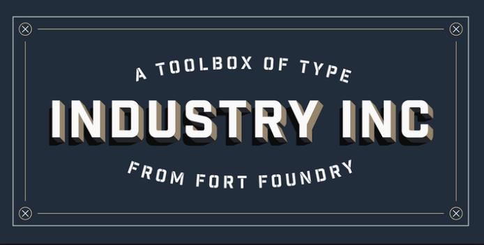 industrial-sans-font