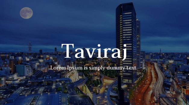 taviraj-font