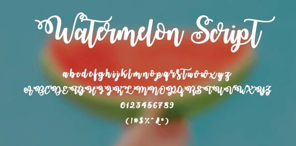 watermelon-font