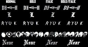 Death Note Font