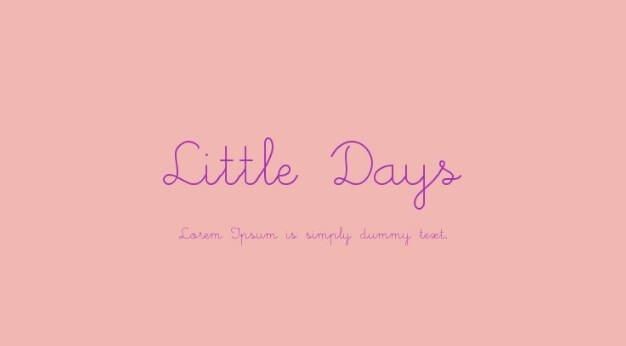 Little Days Font