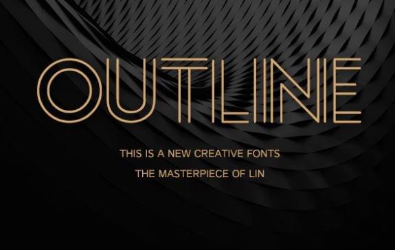Outline Font