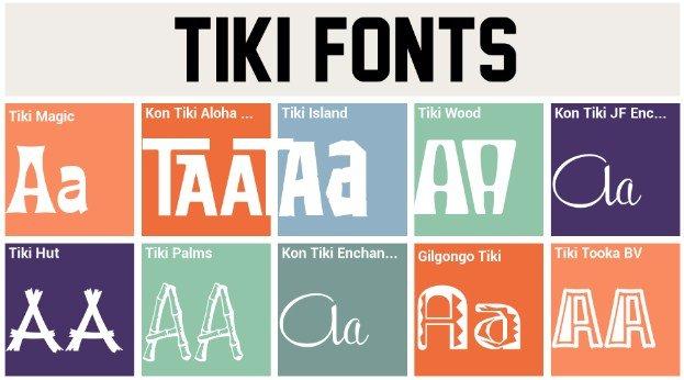 Tiki Island Font