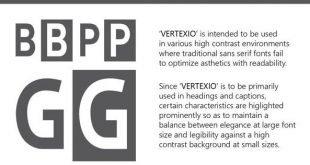 Vertexio font