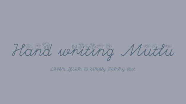 hand-writing-mutlu-font