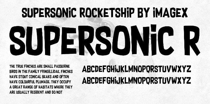 Supersonic Rocketship Font