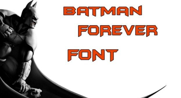 Batman Forever Alternate Font