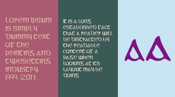YY Uncial Most Irish Font