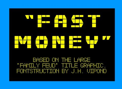 Fast Money Font