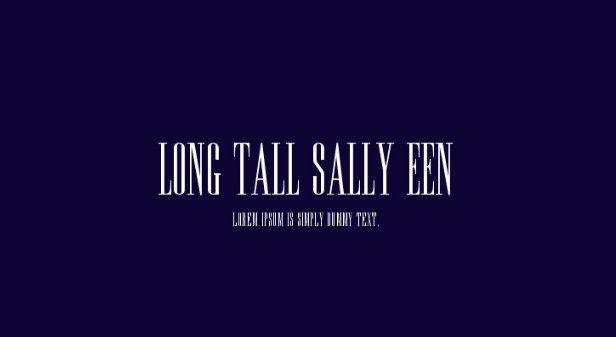 Long Tall Sally EEN Plain Font