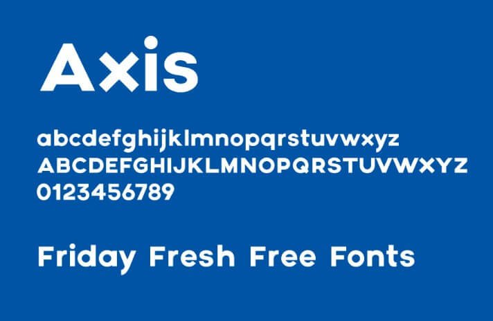 Axis Font