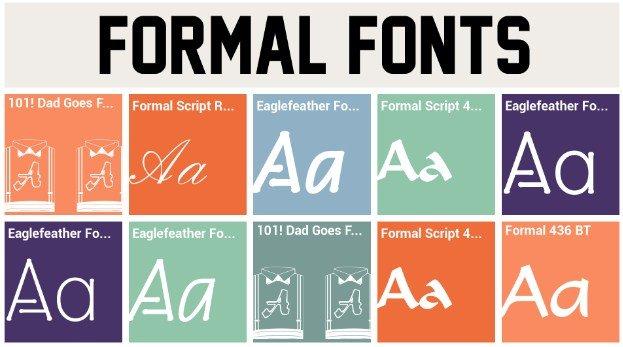Formal Font