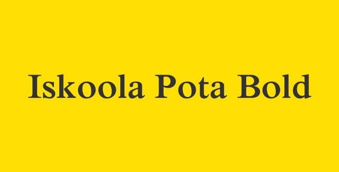 Iskoola Pota Font