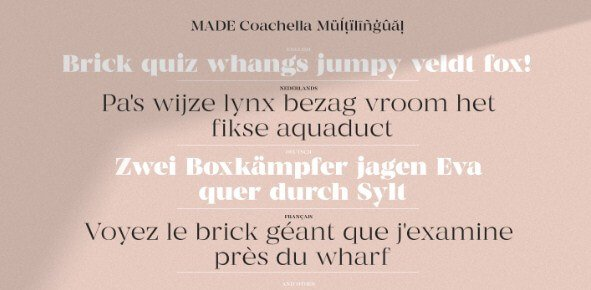 Made Coachella Font