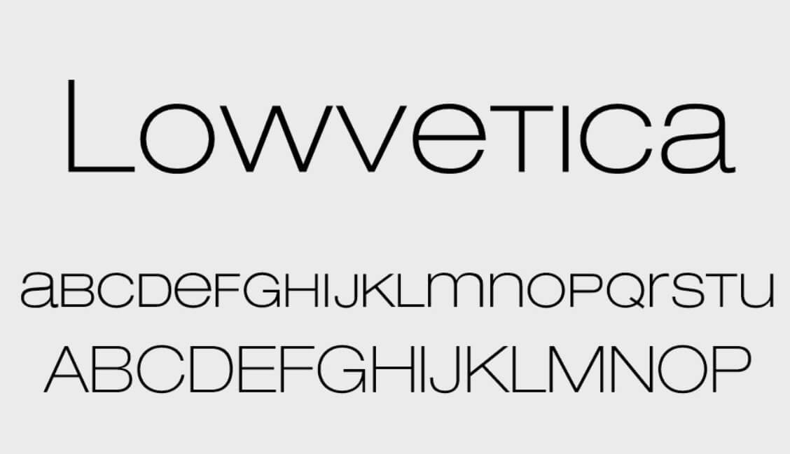 Lowvetica Font - Helvetica Neue Font Free Alternatives