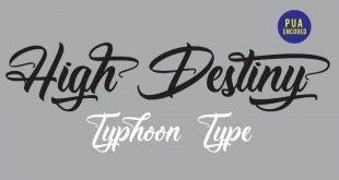 High destiny font 310x165 - High Destiny Script Font Free Download