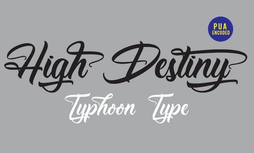 High destiny font - High Destiny Script Font Free Download