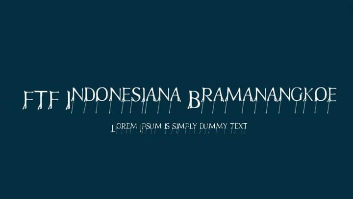 Indonesiana Font