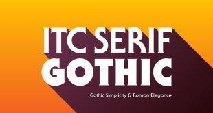 itc serif font 310x165 - ITC Serif Gothic Font Family Free Download