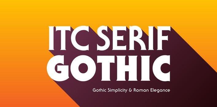 itc serif font - ITC Serif Gothic Font Family Free Download