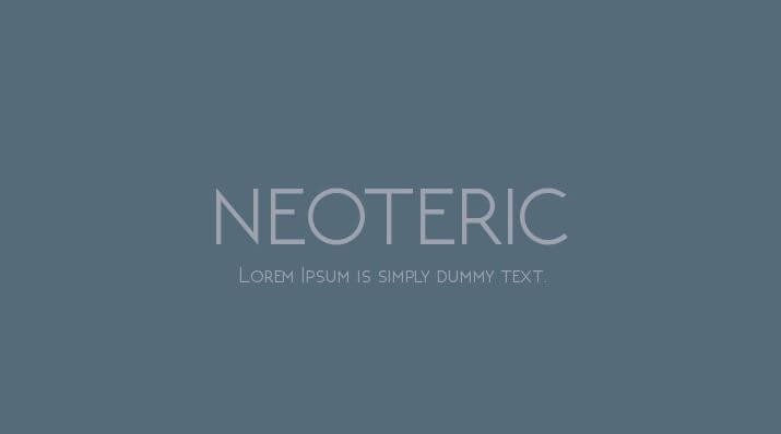 neoteric font - Neoteric Font Free Download