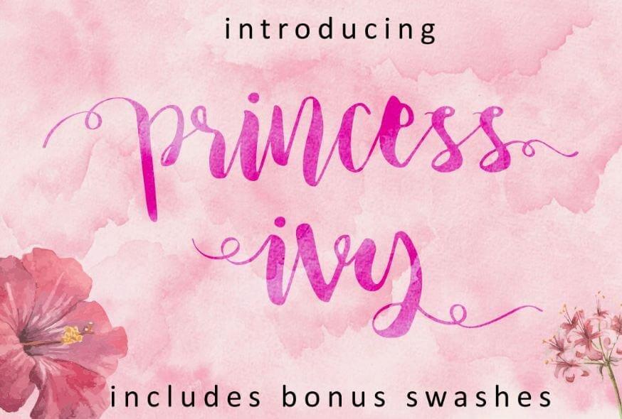 princess ivy - Princess Ivy Script Font Free Download