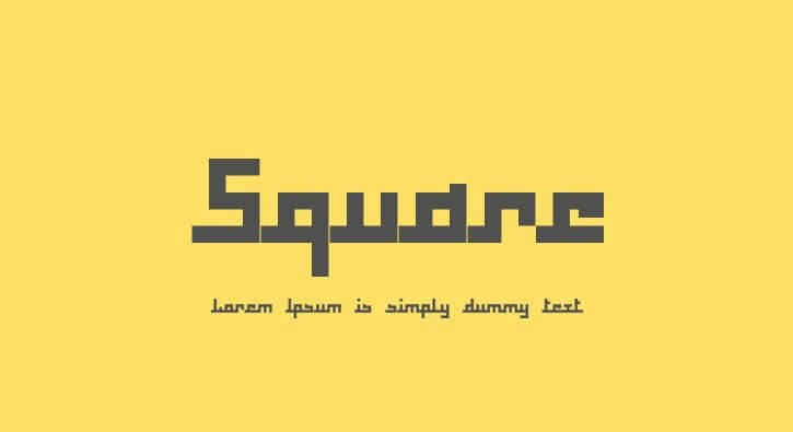 square font - Square Font Family Free Download