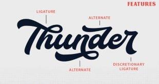 thunder font 310x165 - Thunder Bold Script Font Free Download