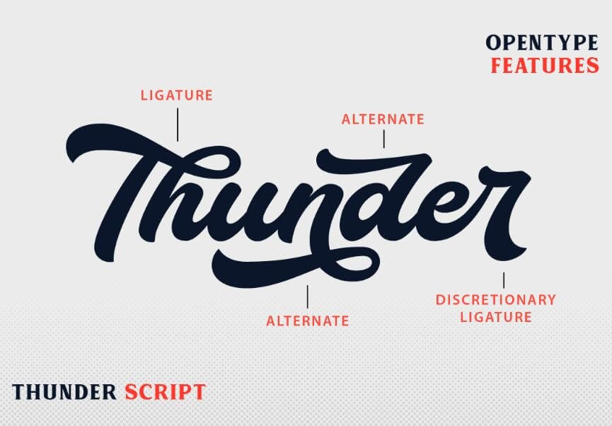 thunder font - Thunder Bold Script Font Free Download