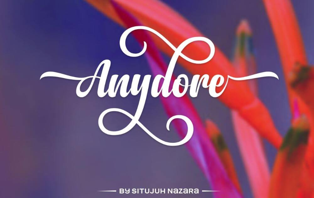 anydore font - Anydore Script Font Free Download