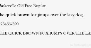 baskerville font 1 310x165 - Baskerville Old Face Font Free Download