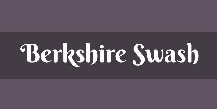 berskhire swash font - Berkshire Swash Font Free Download