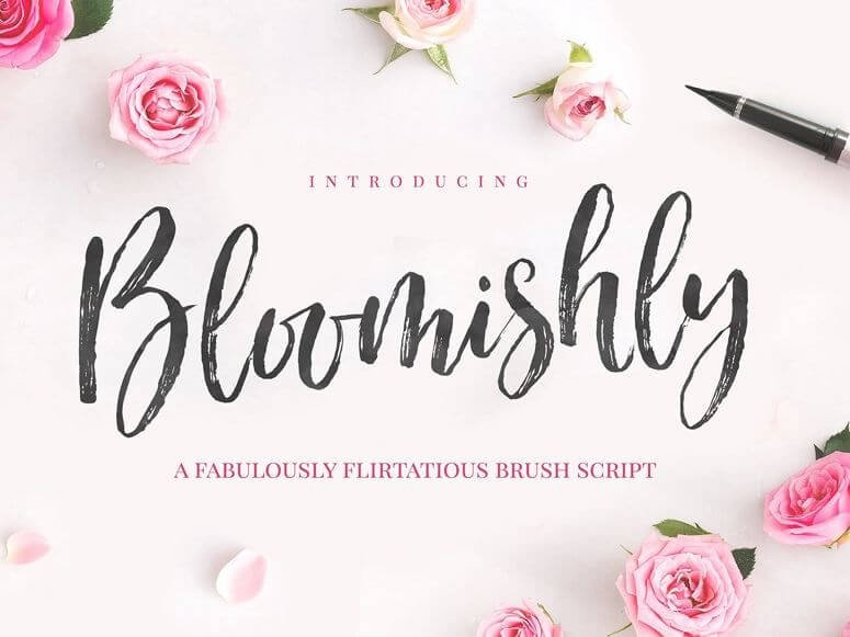 bloomishy font - Bloomishly Brush Font Free Download