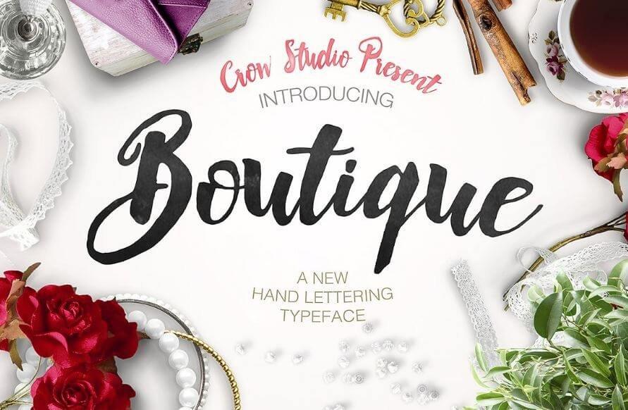 boutique font - Boutique Calligraphy Font Free Download