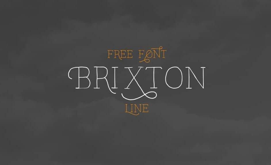 brixton font - Brixton Line Font Free Download