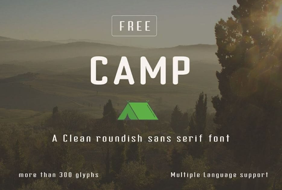 camp font - Camp typeface Free Download