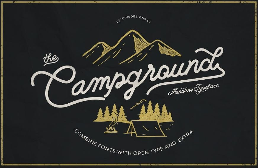 campground font - Campground Font Free Download