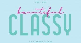 classy font fou 310x165 - Classy Font Duo Font Free Download