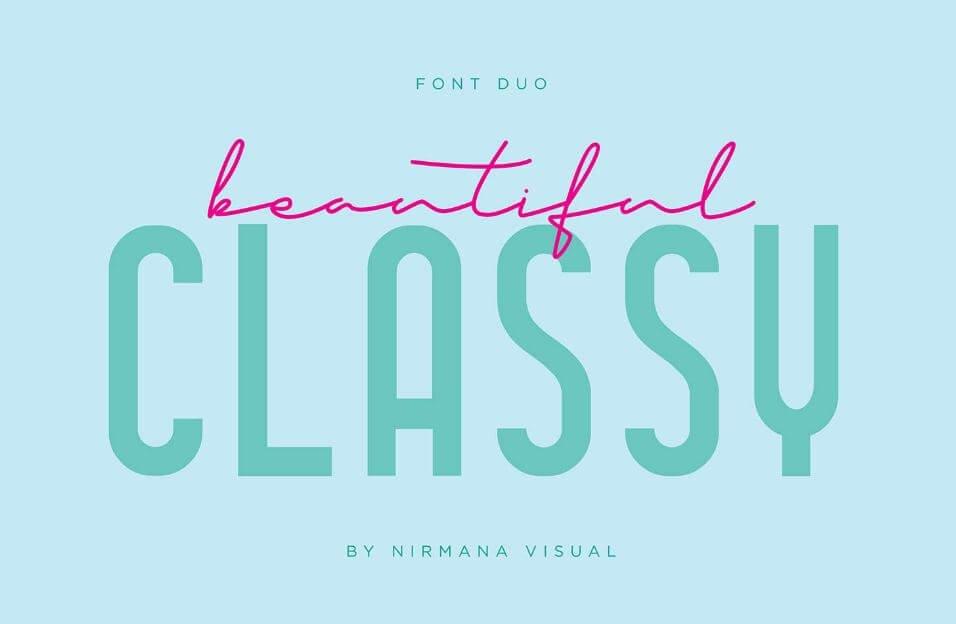 classy font fou - Classy Font Duo Font Free Download