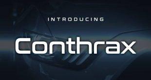 conthrax font 310x165 - Conthrax Font Free Download